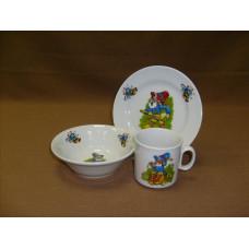 набор посуды 3 пр. лесовичок (с салатником)