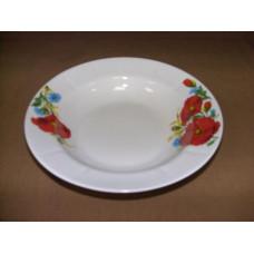 тарелка глубокая 200 мм (1/20) (маки красные)