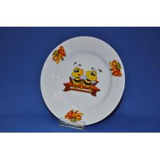 тарелка мелкая 200 мм (1/20) (пчелы)