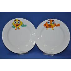 тарелка мелкая 200 мм (1/20) (радужные птички)
