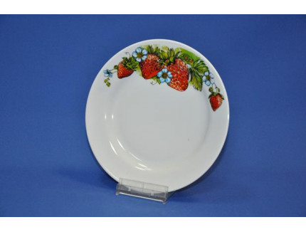 тарелка 240 мм мелкая (клубника)