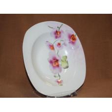 тарелка глубокая 9 орхидея квад.