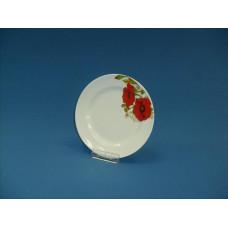 тарелка мелкая 170 мм красные маки