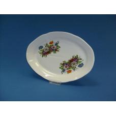 блюдо овальное 350 мм (1/5) (букет цветов)