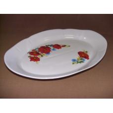 блюдо овальное 350 мм (1/5) (маки красные)
