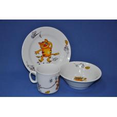 набор посуды 3 пр. кошки-мышки (с салатником) 1476