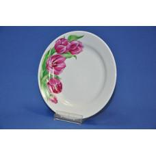 тарелка 240 мм мелкая (розовые тюльпаны)