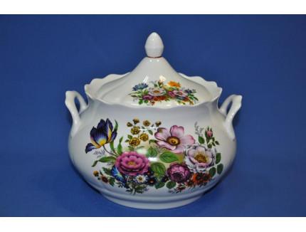 ваза д/супа 3000 мл. букет цветов