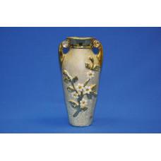 ваза ф. боченок золото/цветы