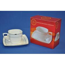 пара чайная квадратная 240мл п/у (снежная королева)