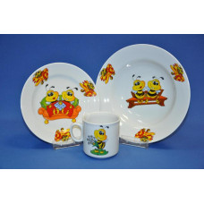 набор детский 3 пр. (пчелы) с тарелкой