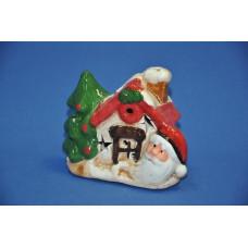 Сувенир новогодний 10*5*9 см Домик с дед морозом