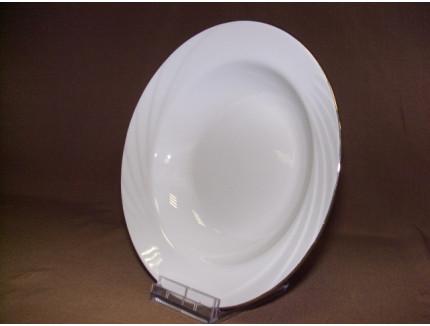 тарелка глубокая 200мм (1/20) (отводка золотом)