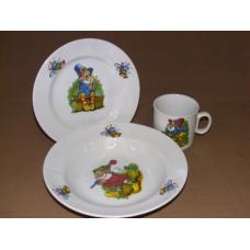 набор детский 3 пр. (лесовичок) с тарелкой
