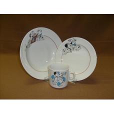 набор посуды 3 пр. Долматинцы (с тарелкой)