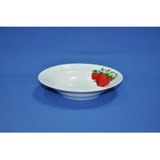 тарелка глубокая 200 мм (1/20) (клубника)