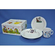 набор детский 3 пр. (долматинцы) с тарелкой