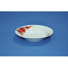 тарелка глубокая 240 мм (1/12) (маки красные)