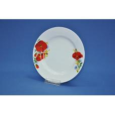 тарелка мелкая 200 мм (1/20) (маки красные)