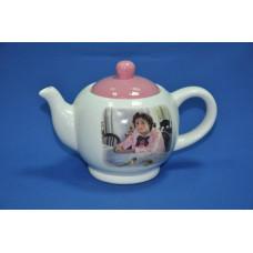 чайник Девочка с персиками