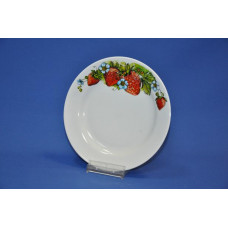 тарелка 200 мм мелкая (клубника)