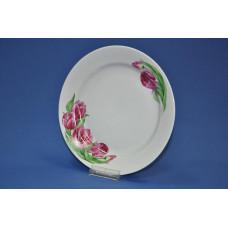 тарелка 175 мм мелкая (розовые тюльпаны)