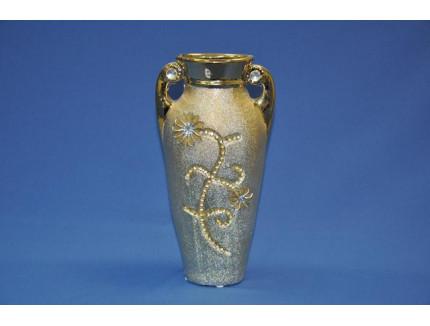 ваза ф. боченок золото Е0362