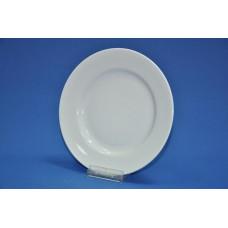 тарелка 200 мм мелкая (белая гладкий край)