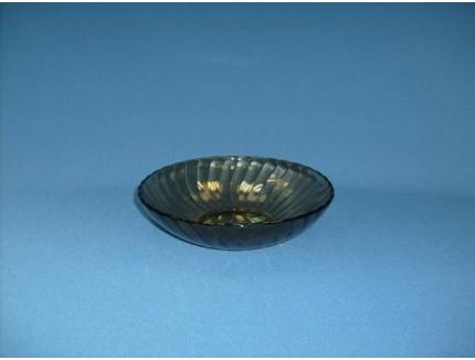тарелка глубокая 19 см ребристая дымчатое стекло 62100